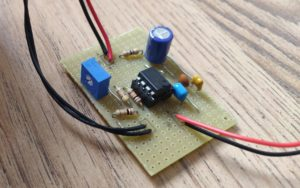 completed circuit on strip-board