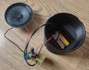 partial assembly into enclosure